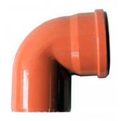 Колено EVCI PLASTIK 110 мм 90 градусов оранжевый
