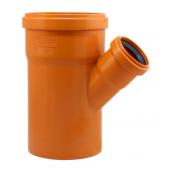Тройник EVCI PLASTIK 110x50x110 мм 45 градусов оранжевый