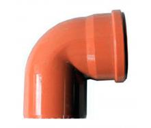 Колено  110 мм 90 градусов оранжевый