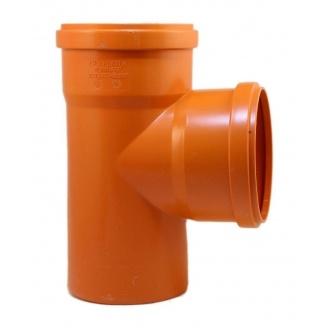 Тройник 110x110x110 мм 90 градусов оранжевый