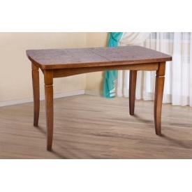 Стол обеденный Микс мебель Леон 1100+400x700x760 мм орех