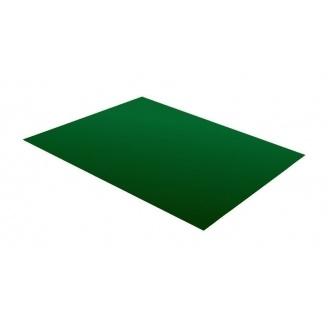 Гладкий лист RAUNI 1250 мм 0,45 мм Polyester (Германия) RAL 6005