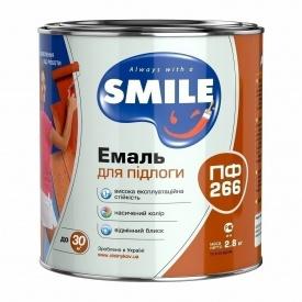 Емаль SMILE ПФ-266 2,8 кг червоно-коричневий