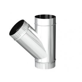 Трійник для димоходу з оцинкованої сталі 45 градусів 140 мм