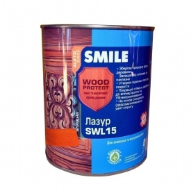 Лазурь SMILE SWL-15 WOOD PROTECT 0,75 л горіх