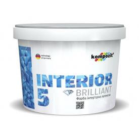 Краска интерьерная латексная Kompozit INTERIOR 5 матовая 7 л снежно-белый