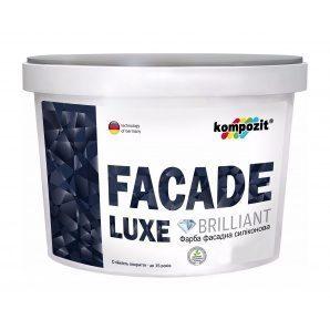 Краска фасадная силиконовая Kompozit FACADE LUXE АА матовая 14 л белый