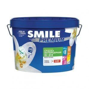 Краска интерьерная SMILE SI-23 PREMIUM латексная 4,2 кг белый