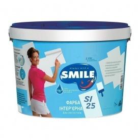 Краска интерьерная SMILE SI-25 матовая акриловая 28 кг белоснежный