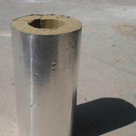 Цилиндр базальтовый фольгировавнный 80 кг/м3 377x100x1000 мм