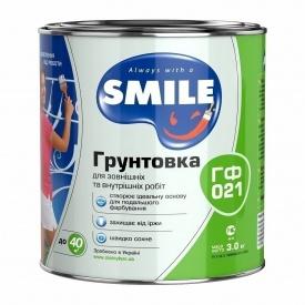 Ґрунтовка SMILE ГФ-021 2,8 кг білий