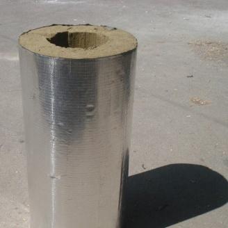 Циліндр базальтовий фольгований 80 кг/м3 377x100x1000 мм