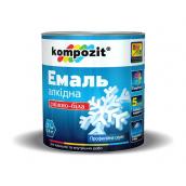 Эмаль алкидная универсальная Kompozit глянцевая 55 л снежно-белый