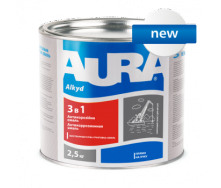 Грунт-эмаль Aura 3 в 1 А 0,8 кг коричневый