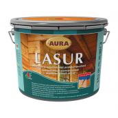 Декоративно-защитное средство для деревянных фасадов Aura Wood Lasur 9 л махагон