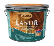 Декоративно-защитное средство для деревянных фасадов Aura Wood Lasur 9 л орех