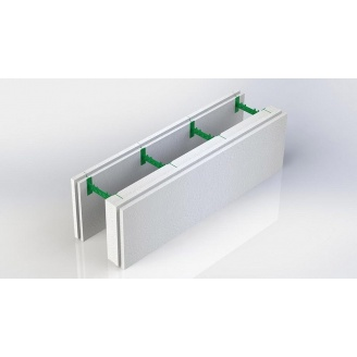 Разборной термоблок 100+50 с регулируемой шириной бетонного ядра стены 300х1000 мм