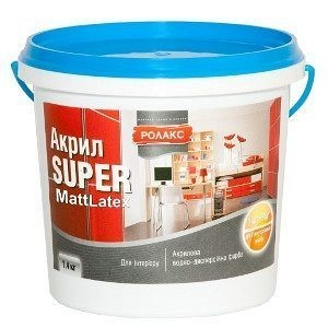 Краска водно-дисперсионная Ролакс Aкрил Super MattLatex 1,4 кг белая