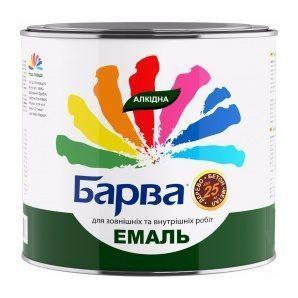 Эмаль алкидная Барва 2,6 кг красный