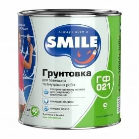 Грунтовка SMILE ГФ-021 0,9 кг красно-коричневый