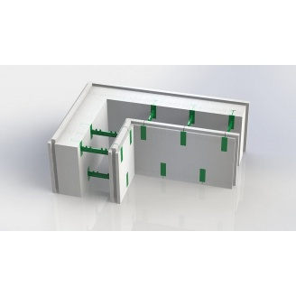 Кутовий термоблок 150+50 AVcom з регульованою шириною бетонного ядра стіни