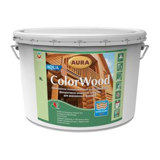 Декоративно-защитное средство Aura Wood ColorWood Aqua 9 л орех