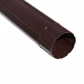 Зливна труба Акведук Преміум 87 мм 1 м коричневий RAL 8017