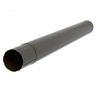 Водосточная труба Акведук Премиум 87 мм 1 м темно-коричневый RAL 8019