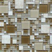 Мозаика из мрамора и стекла VIVACER RS75 300x300 мм
