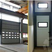 Ангарные ворота Ryterna TLP Ultra Thermo RIB 6000x6000 мм RAL 9016