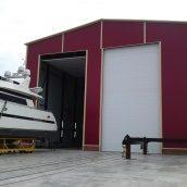 Ангарные ворота Ryterna RIB 12000x4000 мм RAL 9016