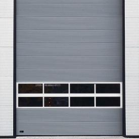 Ангарные ворота Ryterna MACRORIB 8000x4000 мм RAL 9006