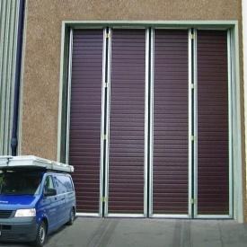 Складывающиеся ворота Ryterna RIB 4000x7000 мм RAL 8017