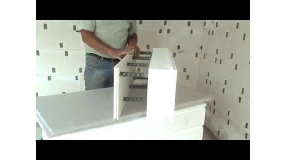 Сборка Комблока - комбинированной несъемной опалубки с гипсовой панелью