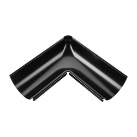 Внутрішній кут жолоба Акведук Преміум 135 градусів 125 мм чорний RAL 9005
