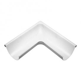 Зовнішній кут жолоба Акведук Стандарт 135 градусів 125 мм білий RAL 9003
