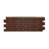 Фасадная панель Альта-Профиль Клинкерный кирпич 1220х440х20 мм Коричневый