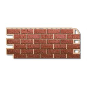 Фасадная панель Альта-Профиль Кирпич 1130х470х20 мм Красный