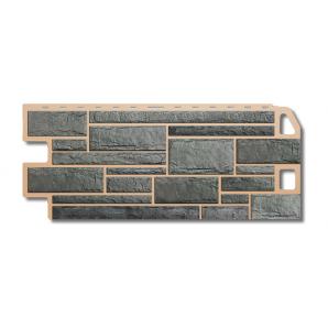 Фасадна панель Альта-Профіль Камінь 1130х470х20 мм Сірий