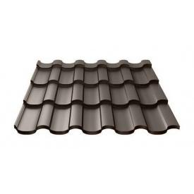 Металлочерепица Ruukki Adamante Purex/Crown BT 0,5 мм темно-коричневый