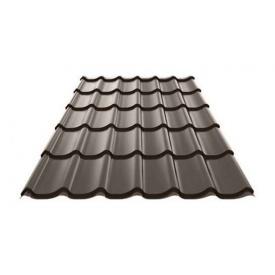Металочерепиця Ruukki Monterrey Polyester Matt 0,5 мм темно-коричневий