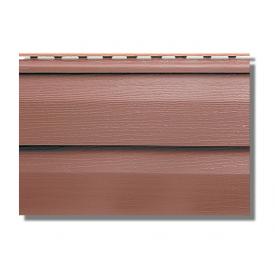 Сайдинг акриловий Альта-Профіль KANADA Плюс Преміум двухпереломний 3660х230х11 мм червоно-коричневий