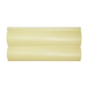 Сайдинг вініловий Альта-Профіль BlockHouse Slim двухпереломний 3660х230х11 мм кремовий