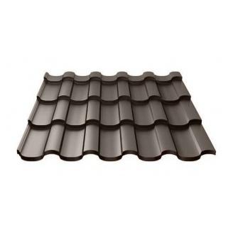 Металочерепиця Ruukki Adamante Polyester Matt 0,5 мм темно-коричневий