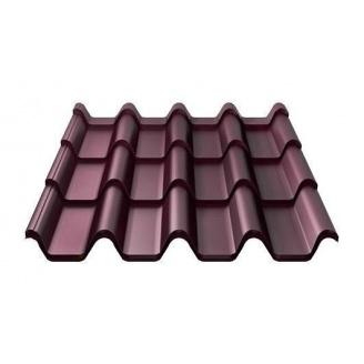 Металлочерепица Ruukki Armorium Pural Matt 0,5 мм красное вино