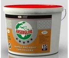 Краска фасадная силиконовая Anserglob универсальная 15 кг