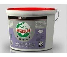 Краска акриловая интерьерная Anserglob для стен и потолка 15 кг