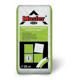 Самовирівнююча суміш для влаштування міцних покриттів підлоги Мaster Niveler 25 кг сіра