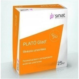Шпаклівка гіпсова фінішна PLATO Glad 25 кг