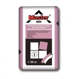 Эластичная термостойкая клеевая смесь Master Flex для закрепления отделочных материалов 25 кг